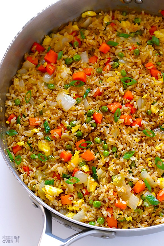 The easiest way to make fried rice for dinner