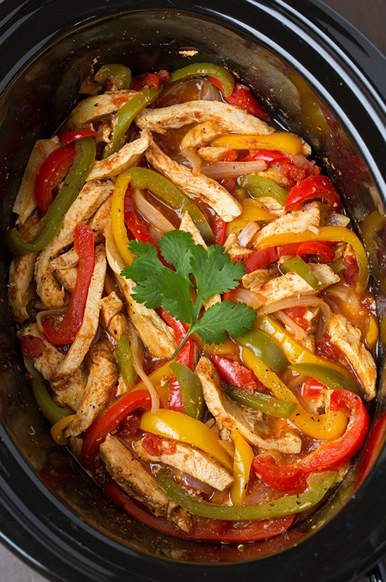 Easy Yet Amazing Slow Cooker Chicken Fajitas