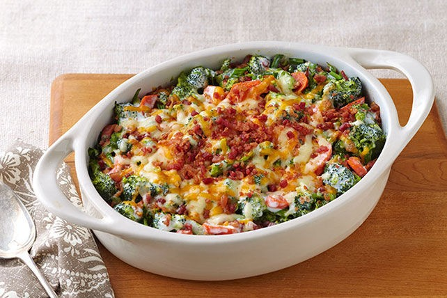 Creamy Broccoli-Bacon Bake