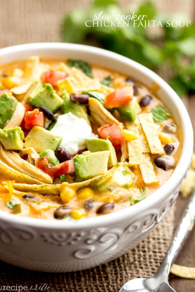 This Slow Cooker Chicken Fajita Soup Is Quick And Easy And Amazingly Flavored