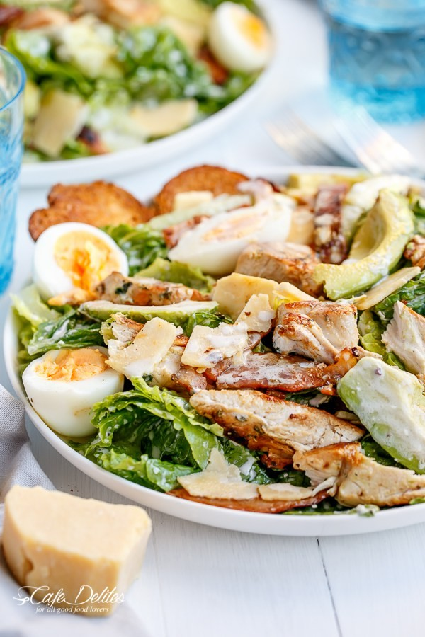 Simple Way To Turn This Wonderful Skinny Chicken And Avocado Caesar Salad Into A Main Meal!