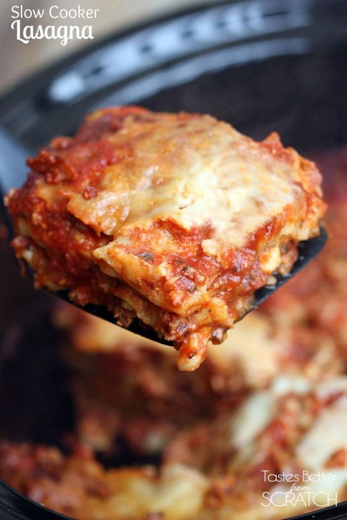 Tasty Homemade Slow Cooker Lasagna With Hardly Any Mess