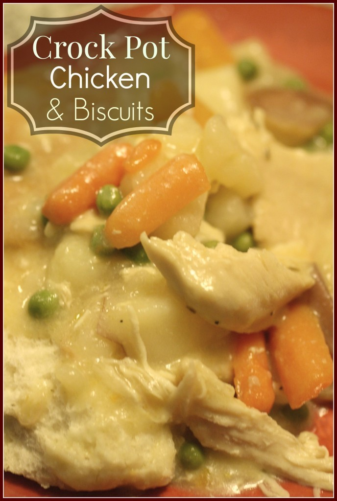 Super Easy And Delicious Crock Pot Creamy Chicken With Biscuits You Want To Come Home To!