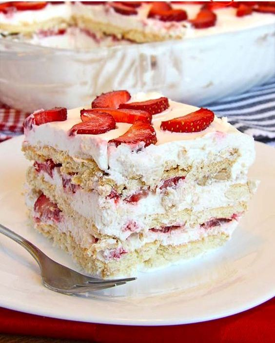 Simple, Quick And Utterly Delicious: No Bake Strawberry Icebox Cake