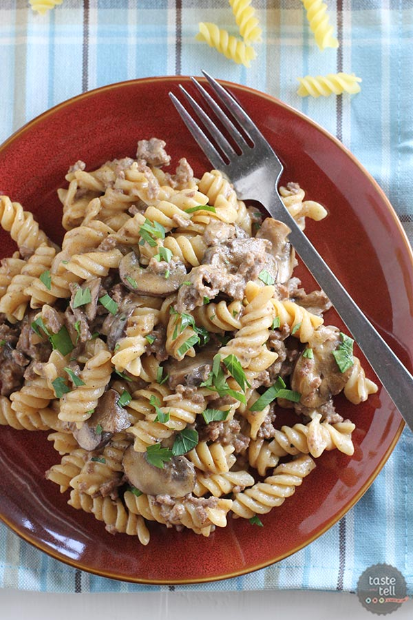 Really Delicious And Easy One Pot Ground Beef Stroganoff