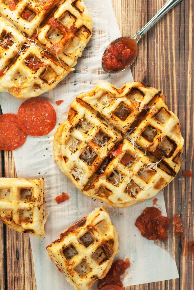 With A Few Simple Ingredients, You Can Make Pepperoni Waffle Pizza Tonight!