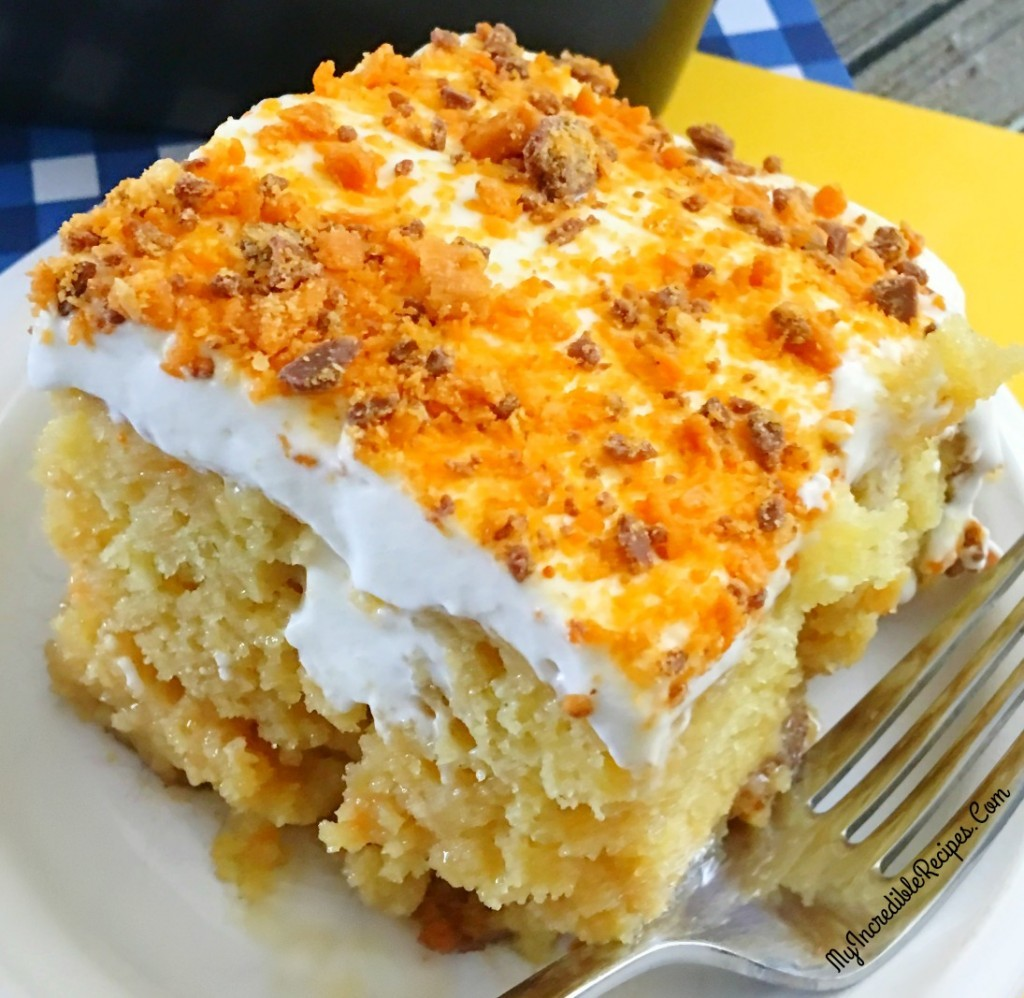 This Butterfinger Extasy Cake Is One Of The Most Delicious And Easy Cakes You Can Make