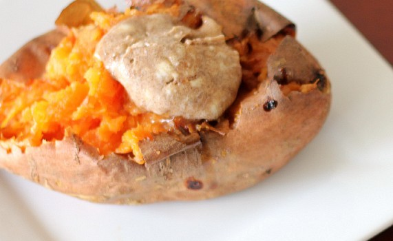The Perfect Baked Sweet Potato With Cinnamon Brown Sugar Butter ...