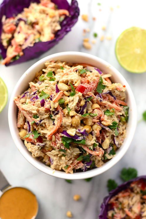 Easy Healthy Thai Peanut Chicken Salad To Eat Tonight
