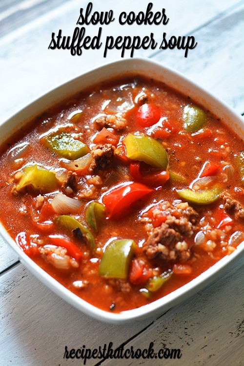 This Fantastic Slow Cooker Stuffed Pepper Soup Will Have Everyone Coming Back For More!