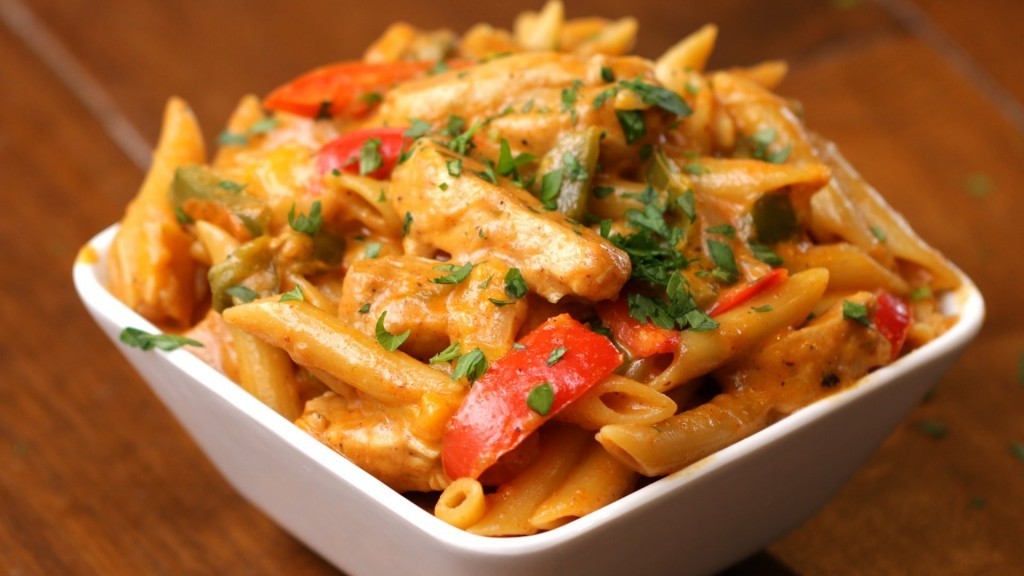 Quick, Easy And Delicious One-Pot Chicken Fajita Pasta Recipe