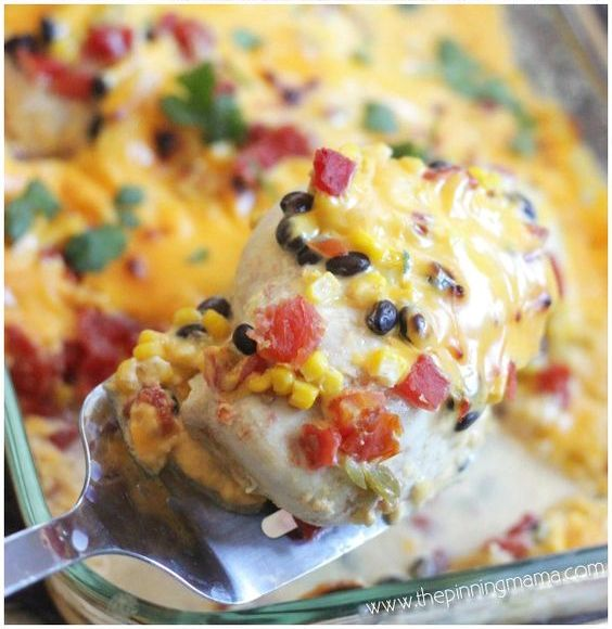This Cheesy Queso Chicken Bake Takes Only One Dish & A Few Minutes To Make