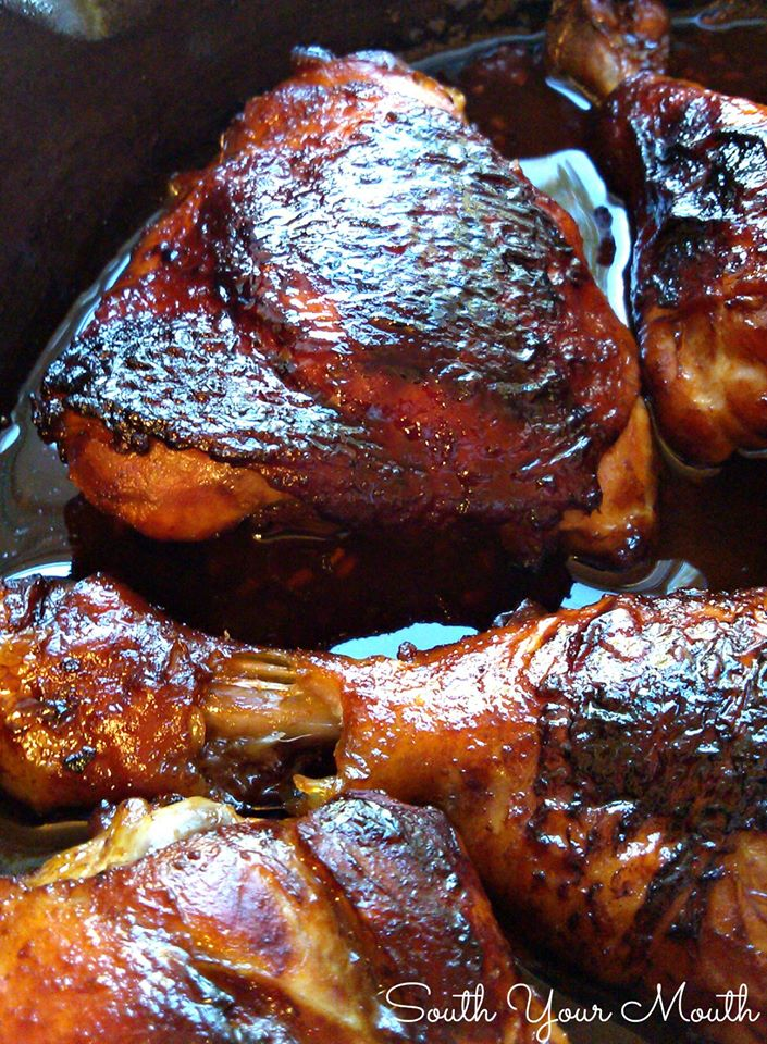 Fall-Off-The-Bone Delicious Sticky Chicken With A Touch Of Sweetness