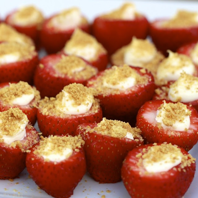 Delicious And Easy Dessert: Cheesecake Stuffed Strawberries