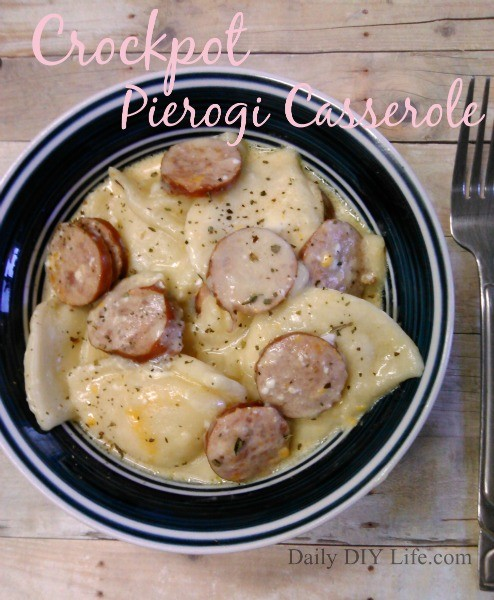 Easy Weeknight Dinner Idea: Crockpot Pierogi Casserole With Kielbasa