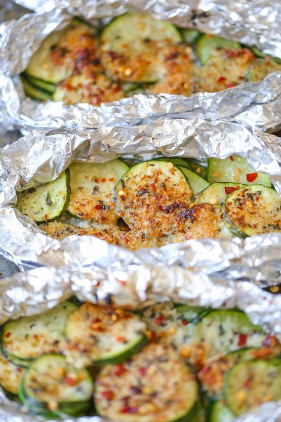 Quick, Easy And Delicious Zucchini Parmesan Foil Packets