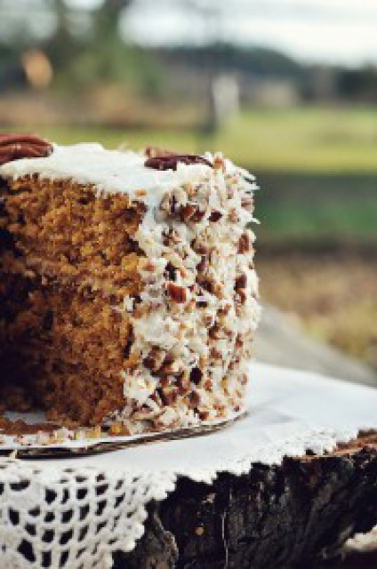 Very Moist And Delicious Caramel Pumpkin Italian Cream Cake