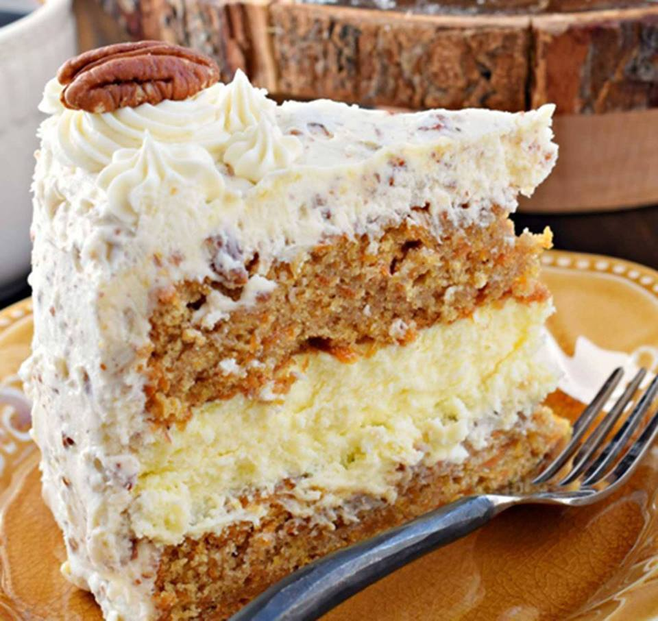 This Carrot Cake Cheesecake Cake Is Perfection!