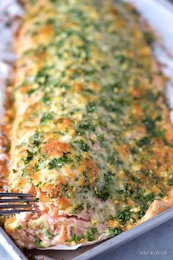 This Oven Baked Salmon With A Parmesan Herb Crust Is Out Of This World Delicious