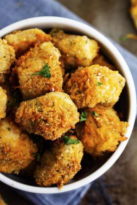 Cheesy Chicken Bites- One Of Those Recipes That's Loved By Kids And Adults Alike!