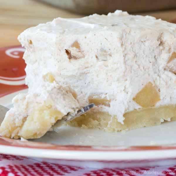 No-Bake Apple Cheesecake Bars With A Gluten Free Almond Crust