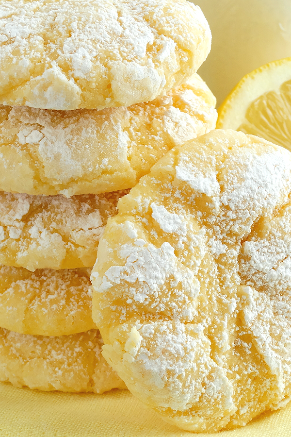 Melt-In-Your-Mouth Lemon Gooey Butter Cookies