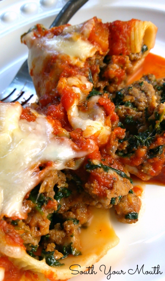 Hearty Stuffed Shells- Great For Family Dinner Or Pot Luck