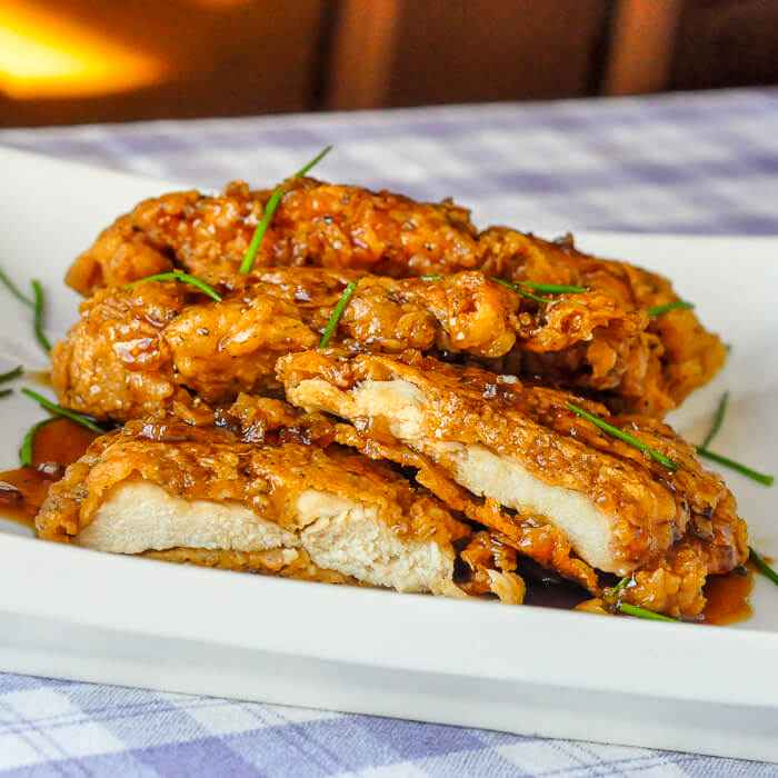 Super Crunchy, Double Coated Honey Garlic Chicken Breasts-Simply Amazing!