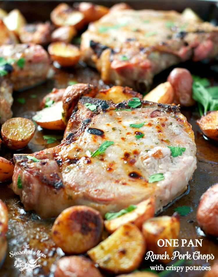 Easy And Quick To Prepare One Pan Ranch Pork Chops With Crispy Potatoes