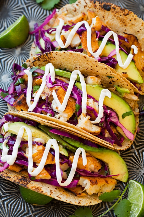 Very Tasty, Easy, And Healthy Fish Tacos With Cabbage Slaw