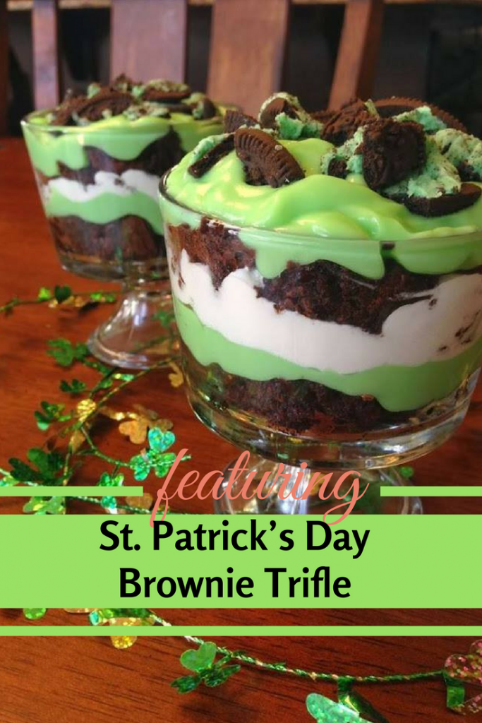 This St. Patrick's Day Brownie Trifle Is Jaw Dropping!