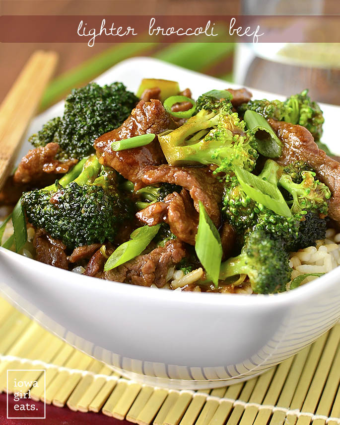 Lighter Beef and Broccoli