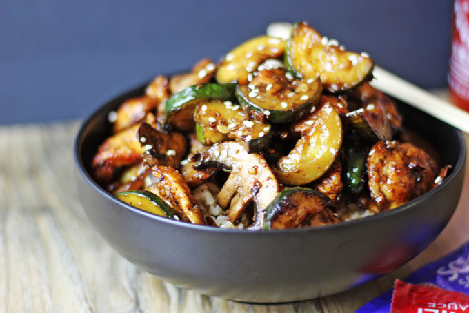 Copycat Chinese Restaurant Recipes To Make At Home-Panda Express Zucchini & Mushroom Chicken