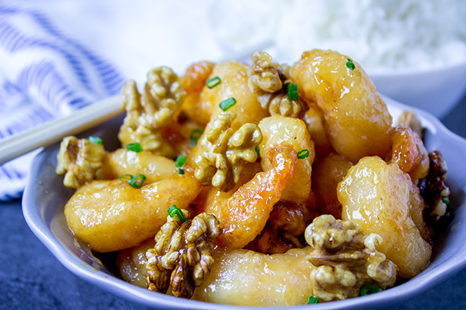 Copycat Chinese Restaurant Recipes To Make At Home-Panda Express Honey Walnut Shrimp