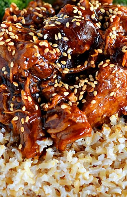 Honey Sesame Crockpot Chicken