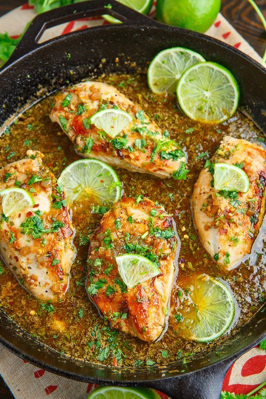 Cilantro Lime Skillet Chicken Recipe