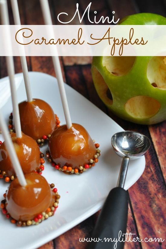 Mini Candy Apples Recipe Perfect For Fall Parties