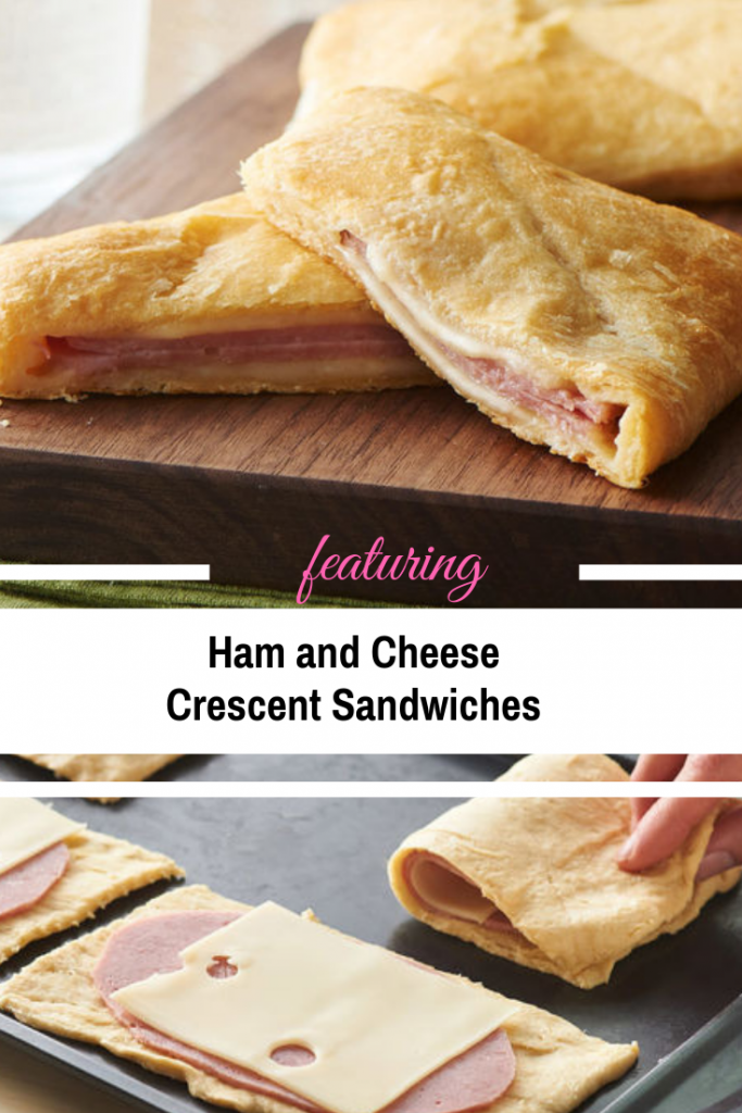 Quick And Easy Ham and Cheese Crescent Sandwiches