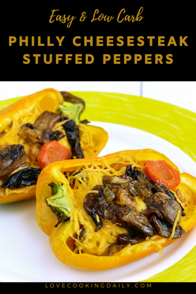 Easy Low-Carb Philly Cheesesteak Stuffed Peppers