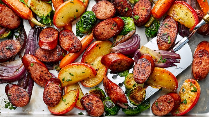 Sheet Pan Sausage And Veggies-Easy And Sooo Delicious!