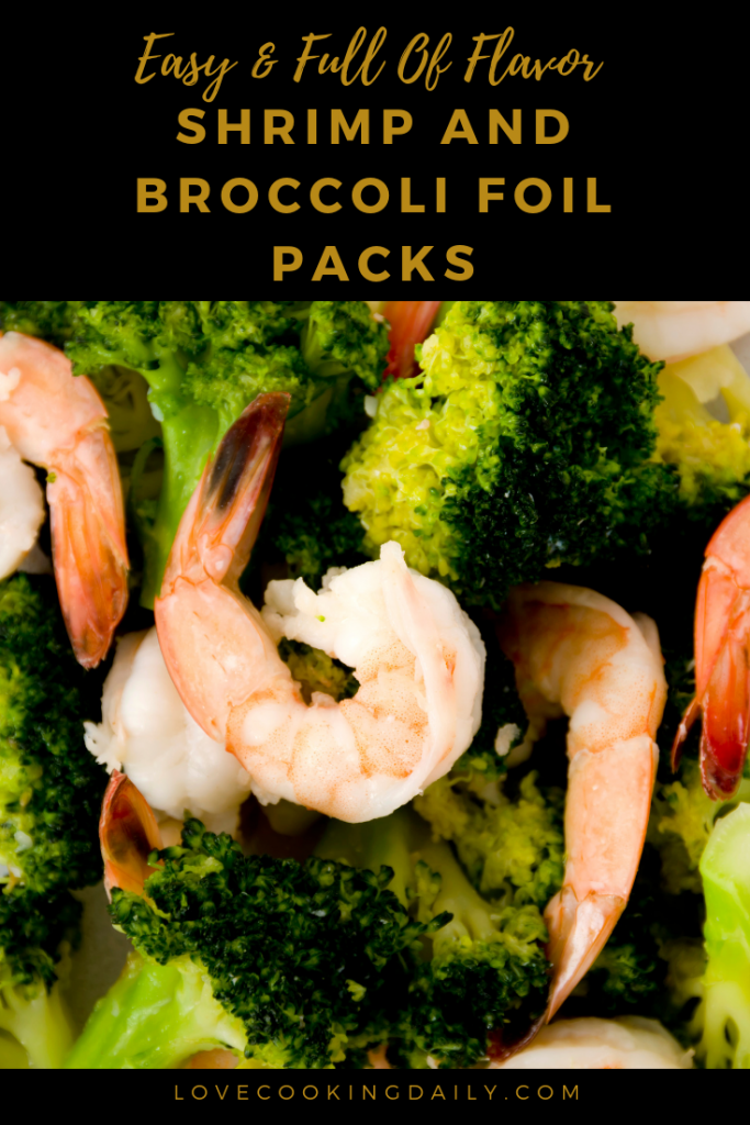 Shrimp and Broccoli Foil Packs with Garlic Lemon Butter Sauce